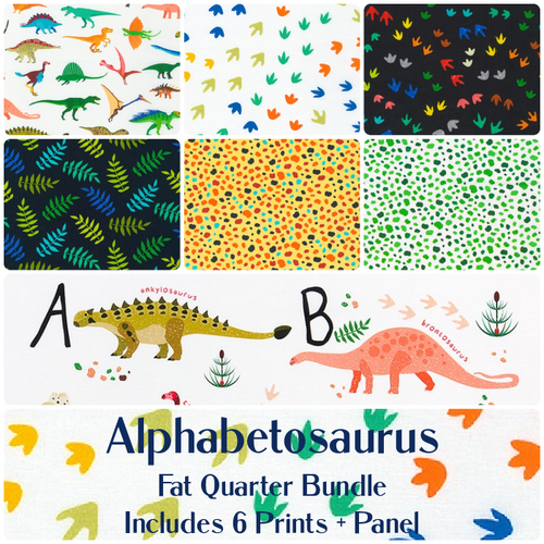 Alphabetosaurus Fat Quarter Bundle - Expected Sept 2021 - brewstitched.com