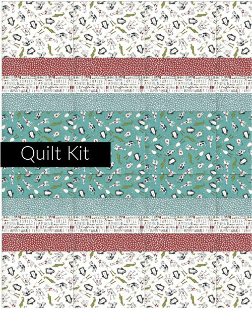 Animal Crackers Baby Quilt Kit - Aqua - brewstitched.com