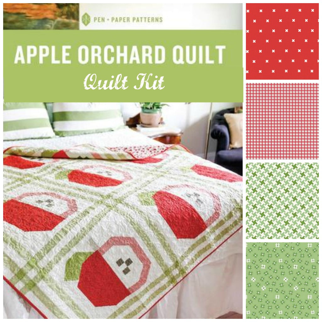 Apple Orchard Throw Quilt Kit - brewstitched.com