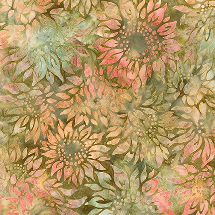 Artisan Batiks: Impressions of Tuscany 2 Garden Coral - Priced by the Half Yard - brewstitched.com