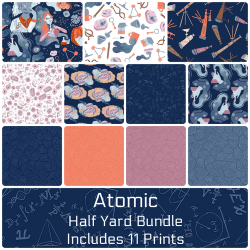 Atomic Half Yard Bundle - Includes 11 Prints- Expected Aug 2021 - brewstitched.com