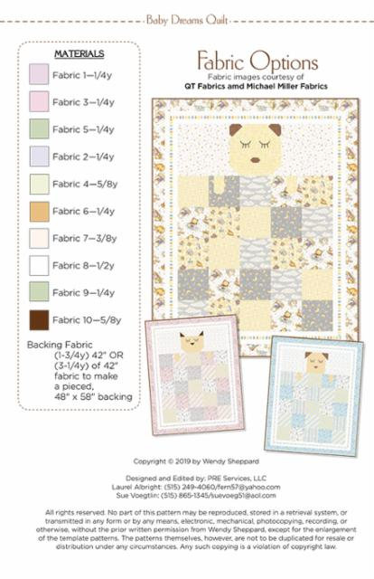Baby Dreams Quilt Paper Pattern from Wendy Shepard - brewstitched.com