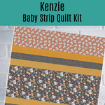 Kenzie Koala Baby Strip Quilt Kit in Gray - brewstitched.com