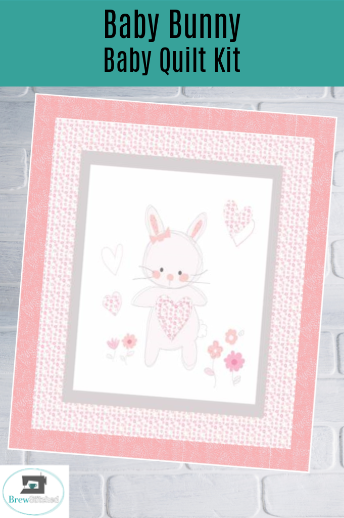 Baby Bunny Baby Quilt Kit measures 41 x 50 - brewstitched.com