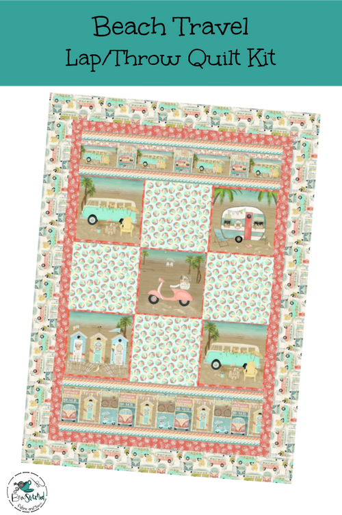 Beach Travel Lap Quilt Kit - Expected Feb 2021 - brewstitched.com