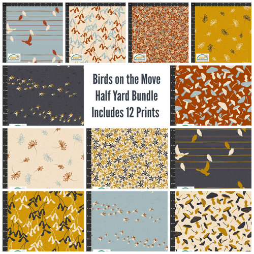 Birds on the Move Half Yard Bundle - Expected Jan 2021 - brewstitched.com