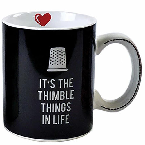 It's the Thimble Things in Life 15 ounce Coffee Mug - brewstitched.com
