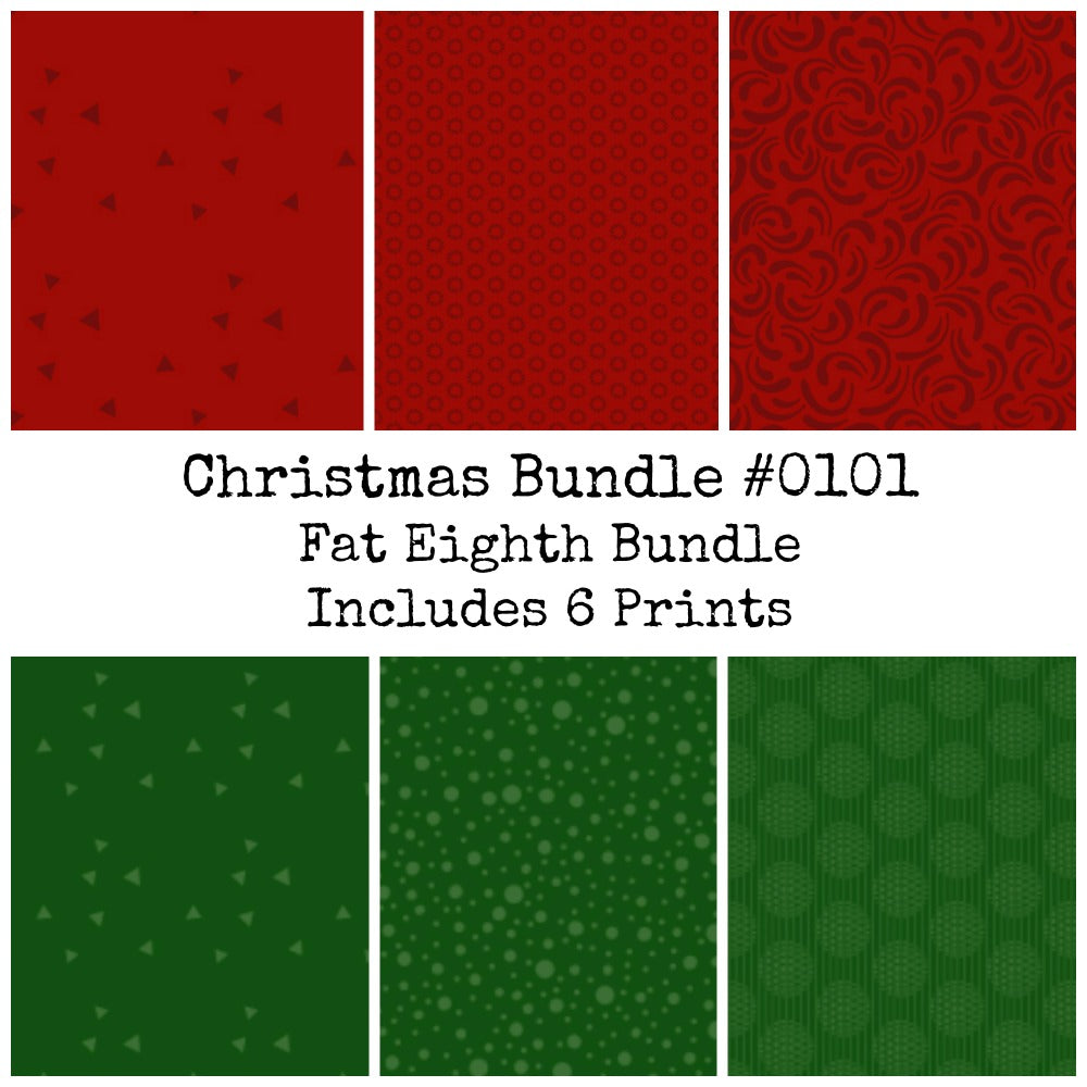 Christmas Fat Eighth Bundle #0101 - Includes 6 Prints - brewstitched.com