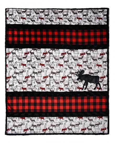 Sensational Strips Cuddle Kit A 'Moose' D Quilt Kit - brewstitched.com