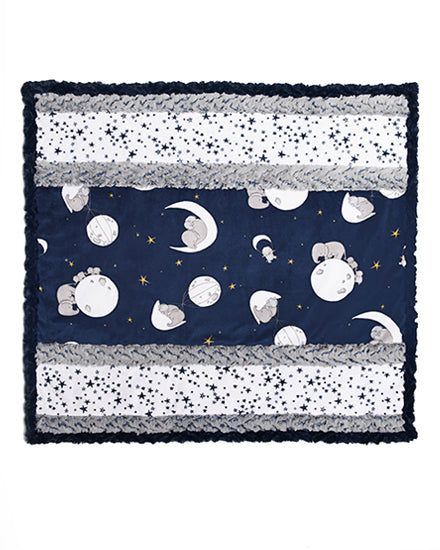 Wee One Cuddle Kit Moonwalk Navy Quilt Kit - brewstitched.com