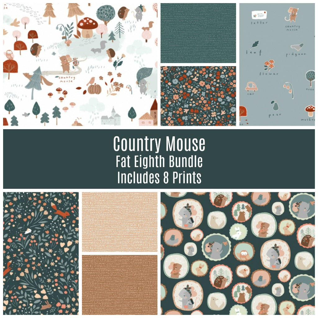 Country Mouse Fat Eighth Bundle - brewstitched.com