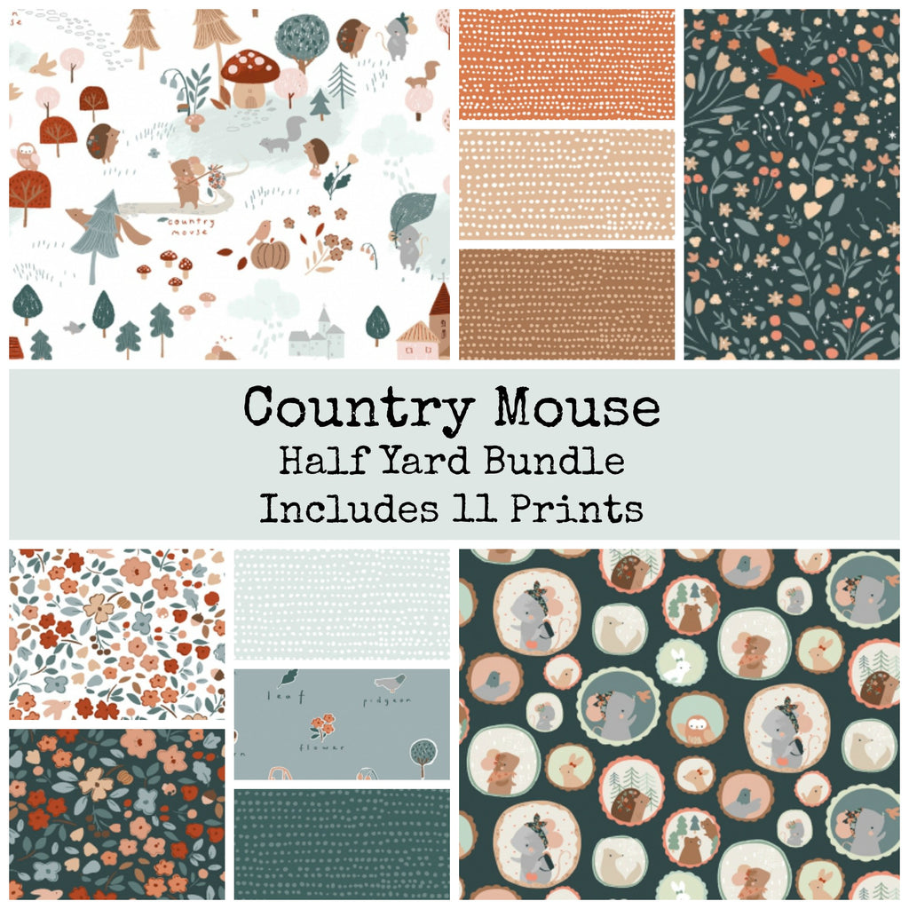 Country Mouse Half Yard Bundle - Coming July 2020 - brewstitched.com