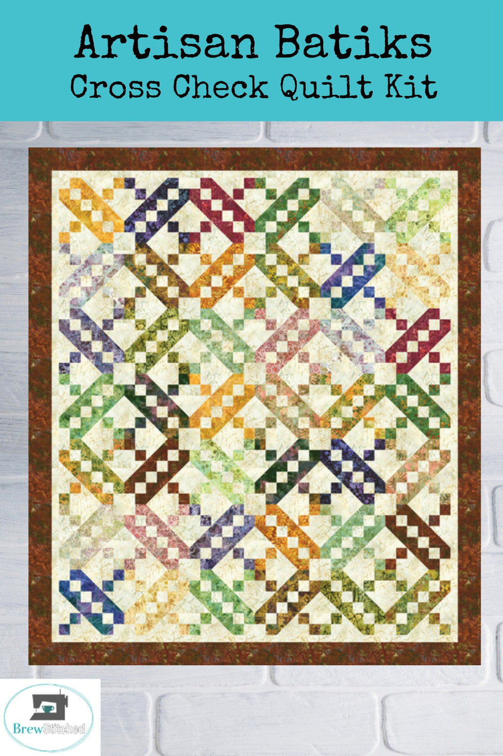 Artisan Batiks Cross Check Quilt Kit - brewstitched.com