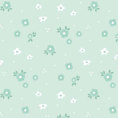 Gnome Sweet Gnome Woodland Floral Mist - Priced by half yard - brewstitched.com