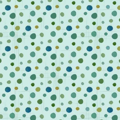 Gnome Sweet Gnome Dot Mist - Priced by half yard - brewstitched.com