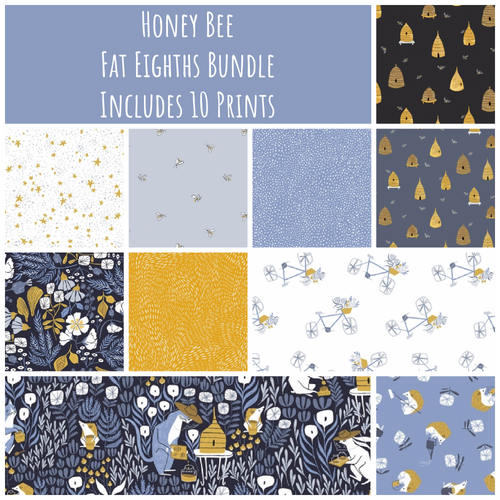 Honey Bee Fat Eighth Bundle - brewstitched.com