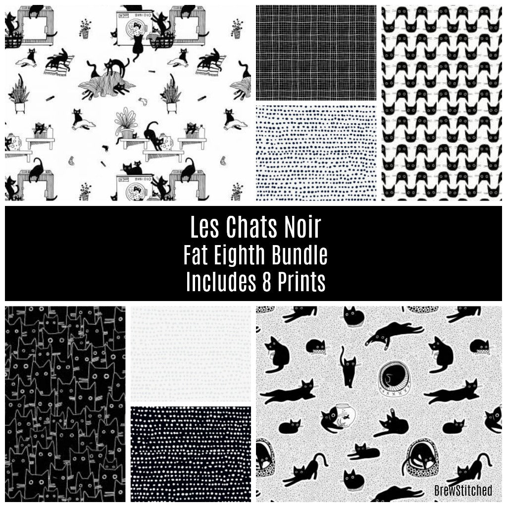 Les Chas Noir Fat Eighth Bundle - Coming Nov 2020 - brewstitched.com