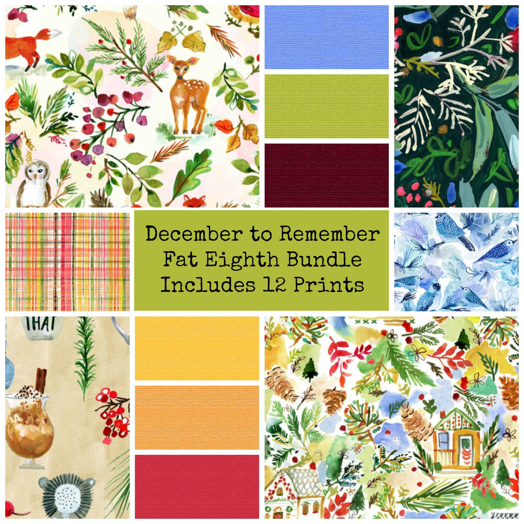 December to Remember Fat Eighth Bundle - Includes 12 Prints - brewstitched.com