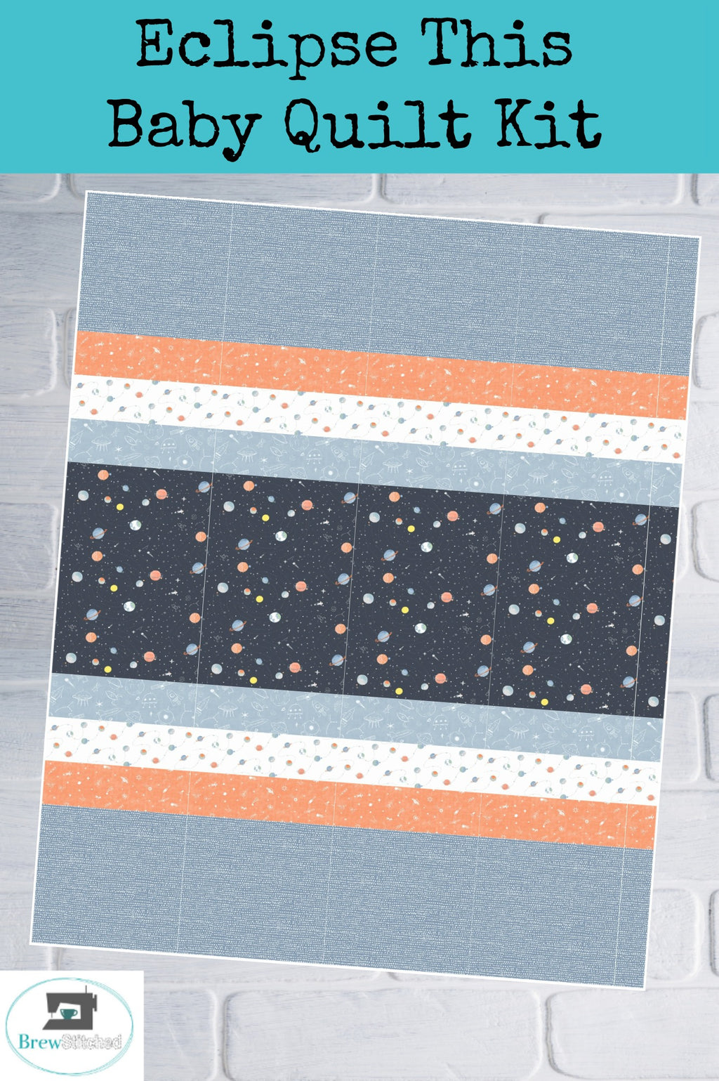 Eclipse This Baby Quilt Kit - brewstitched.com