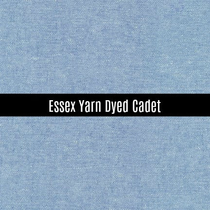 Essex Yarn Dyed Linen in Cadet - Priced by the Half Yard - brewstitched.com