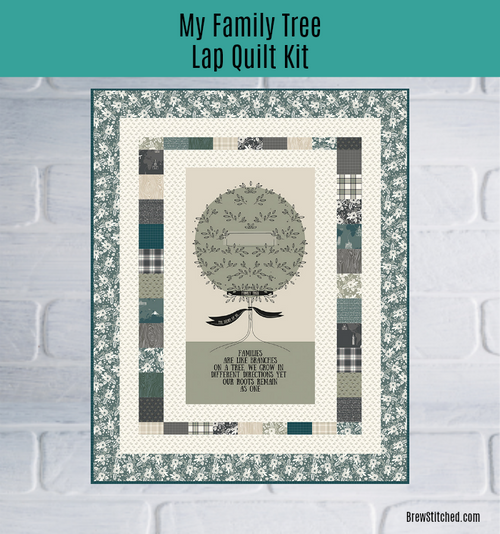 My Heritage Family Tree Lap Quilt Kit - brewstitched.com