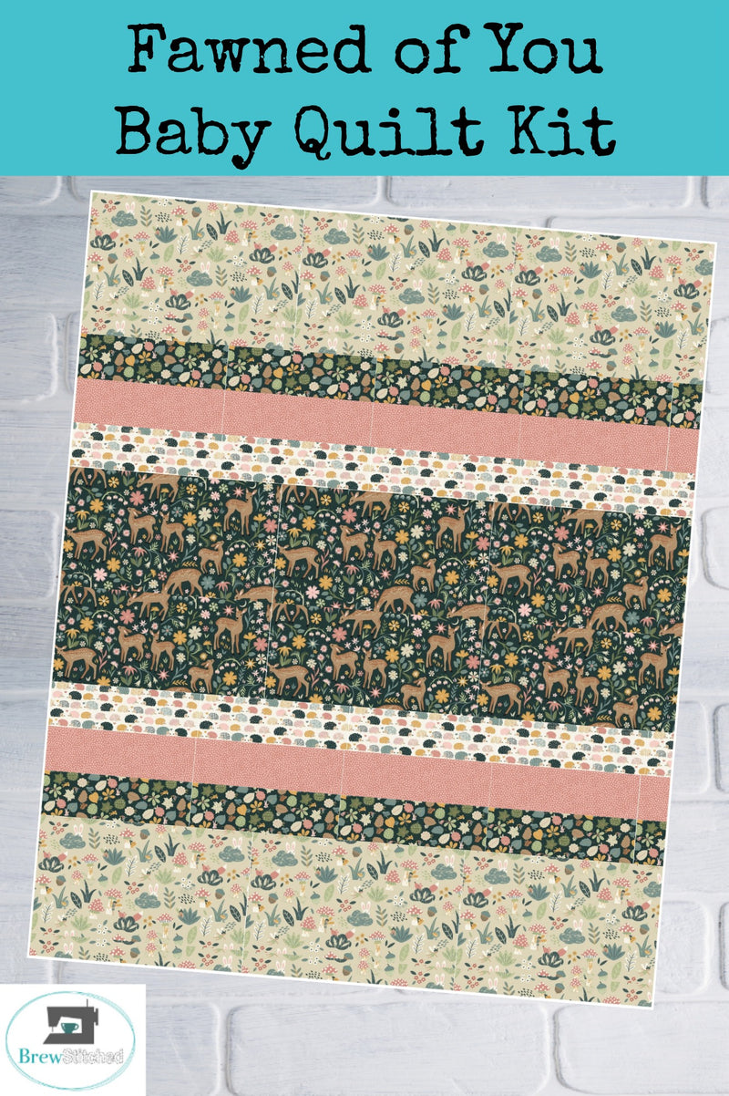 Fawned of You Baby Quilt Kit - brewstitched.com