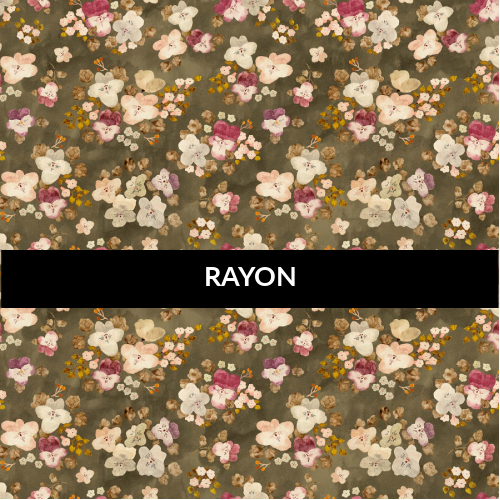 Marcel Floral Gray RAYON - Priced by the half yard - brewstitched.com
