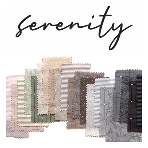 Serenity Fat Quarter Bundle - Include 24 Prints - brewstitched.com