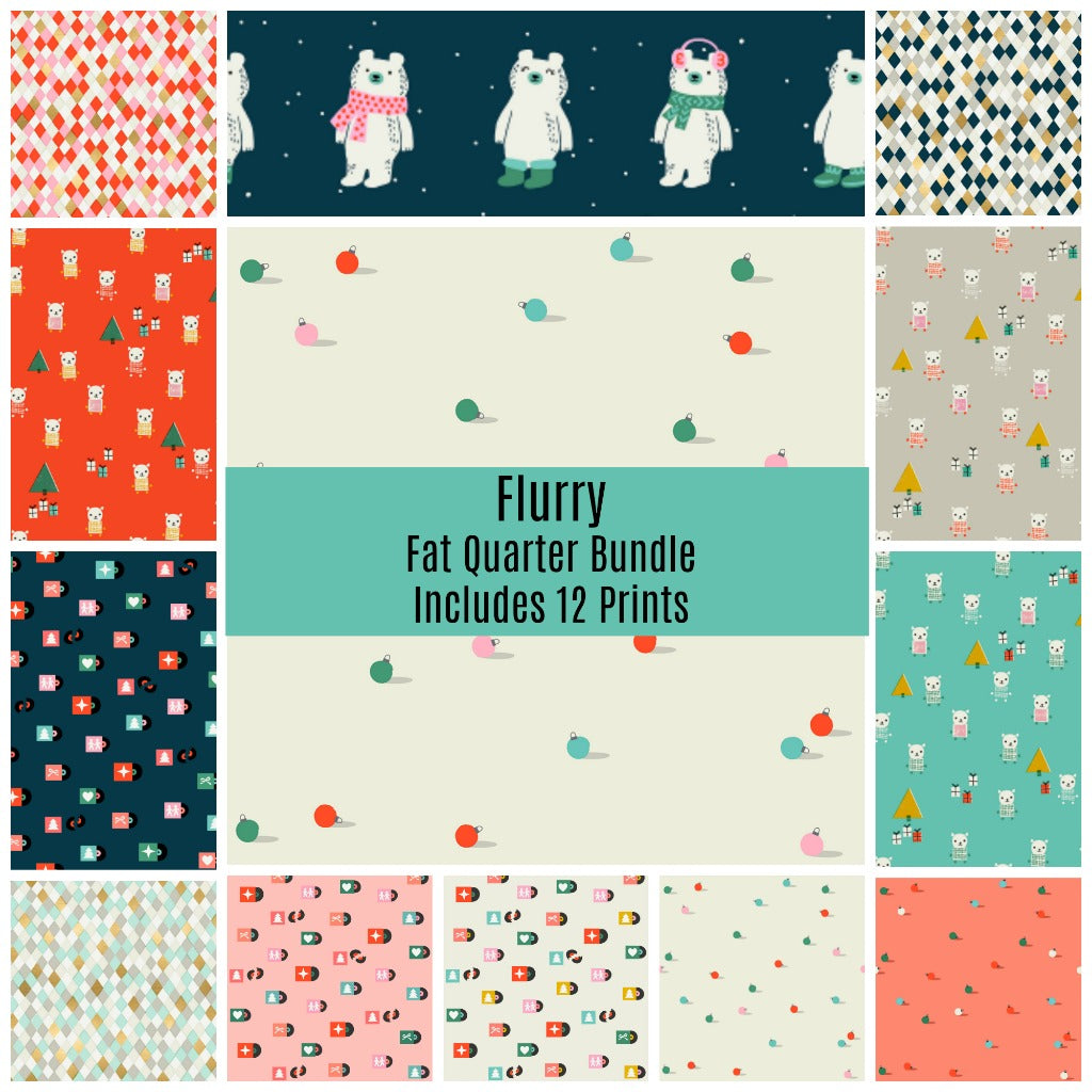 Flurry Fat Quarter Bundle - Includes 12 Prints - brewstitched.com