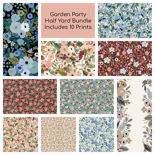 Garden Party Half Yard Bundle - Coming Jan 2021 - brewstitched.com