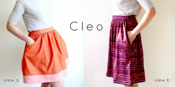 Cleo Skirt Sewing Paper Pattern from Made By Rae - brewstitched.com