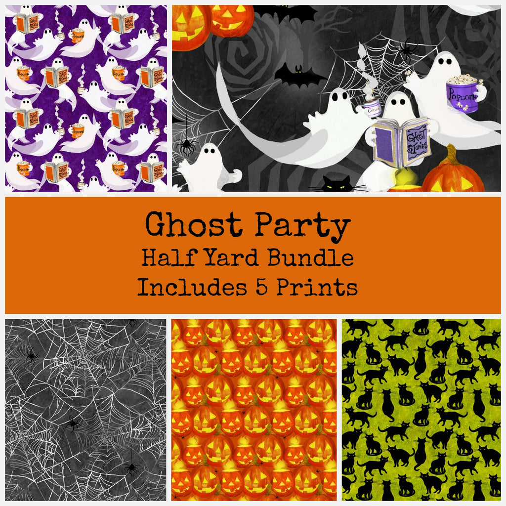 Ghost Party Half Yard Bundle - Includes 5 Prints - brewstitched.com
