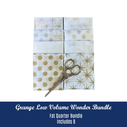Grunge Low Volume Wonder Fat Quarter Bundle - Includes 8 - brewstitched.com