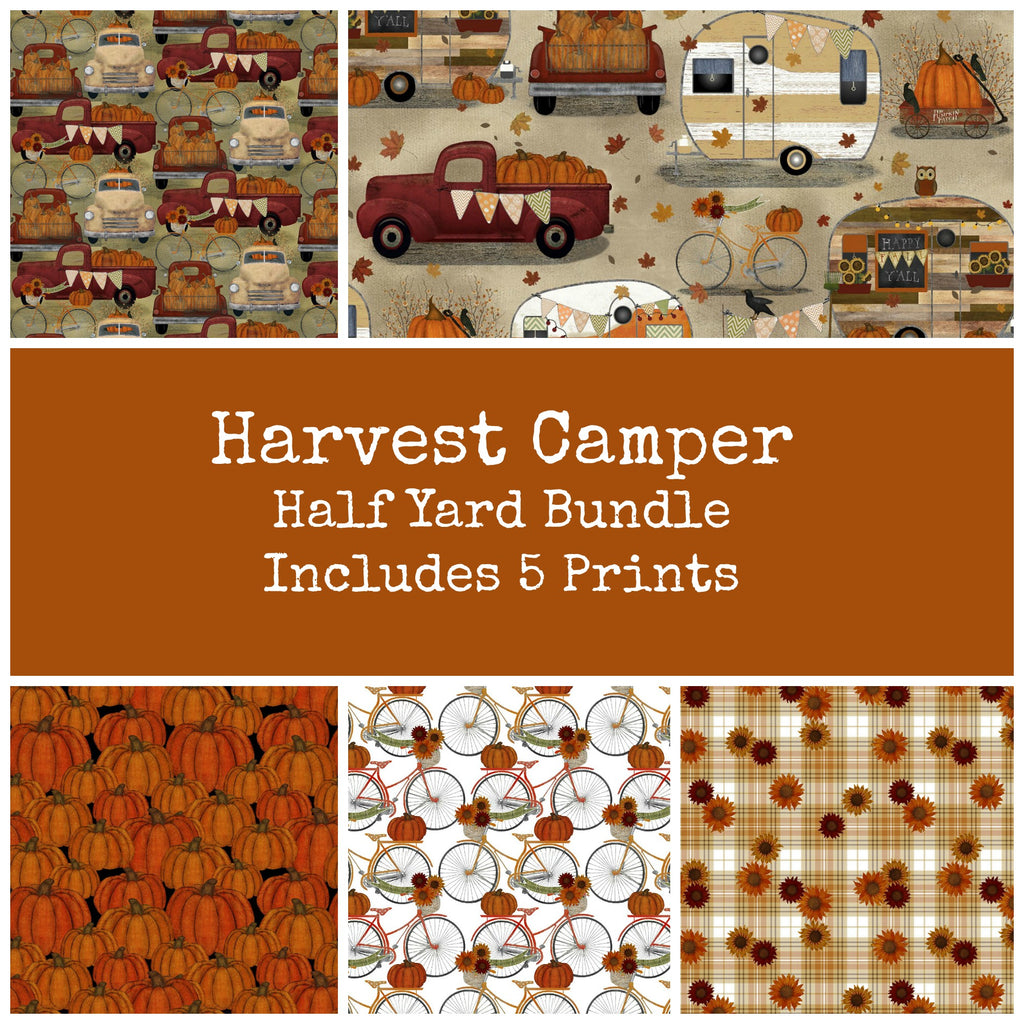 Harvest Camper Half Yard Bundle - Coming August 2020 - brewstitched.com