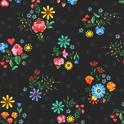 Hidden Canyon Floral Night - Priced by the Half Yard - brewstitched.com