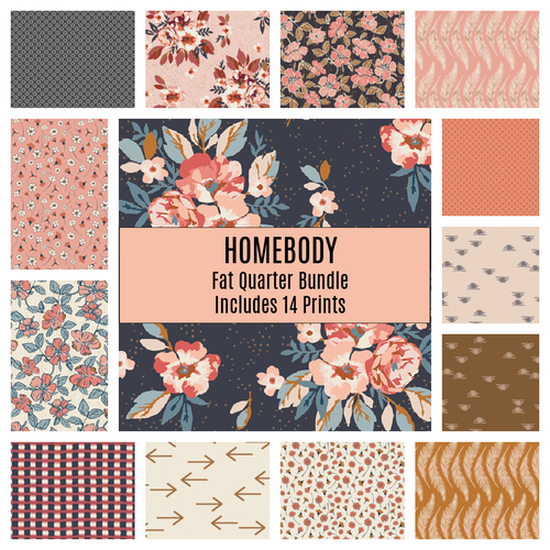 Homebody Fat Quarter Bundle - Includes 14 Prints - brewstitched.com