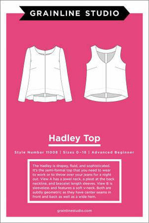 Hadley Top Paper Pattern from Grainline Studio - brewstitched.com