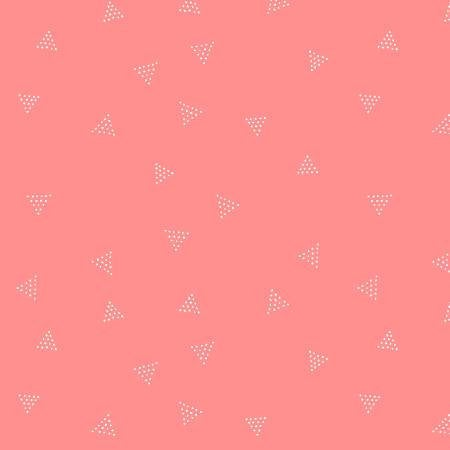 Triangle Dot in Coral - Priced by the Half Yard - brewstitched.com