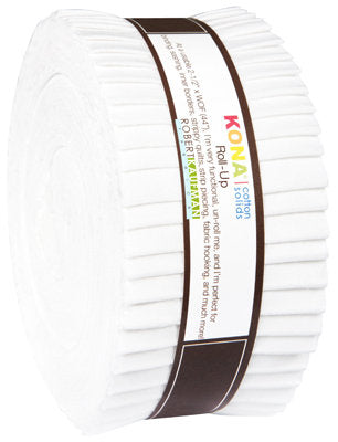 "Kona White 2.5"" strips Jelly Roll - brewstitched.com"