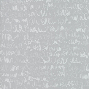 Modern Backgrounds Scribbles Light Grey - Priced by the Half Yard - brewstitched.com