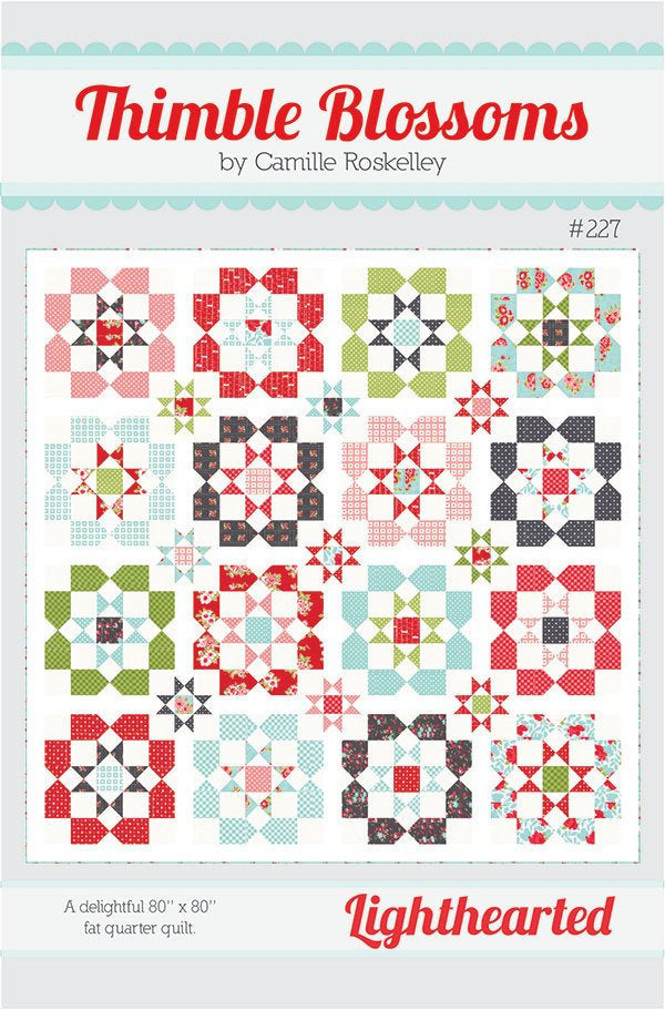 Lighthearted Quilt Paper Pattern from Thimble Blossoms - brewstitched.com