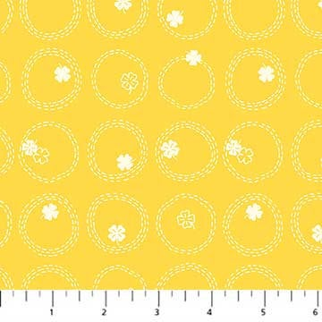 Figo Lucky Charms Four Leaf Clover in Yellow - brewstitched.com