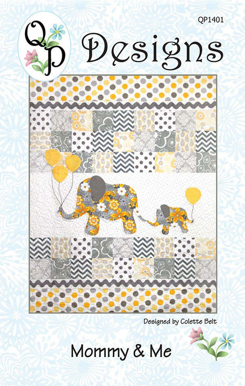 Mommy and Me Baby Quilt Paper Pattern from QP Designs - brewstitched.com