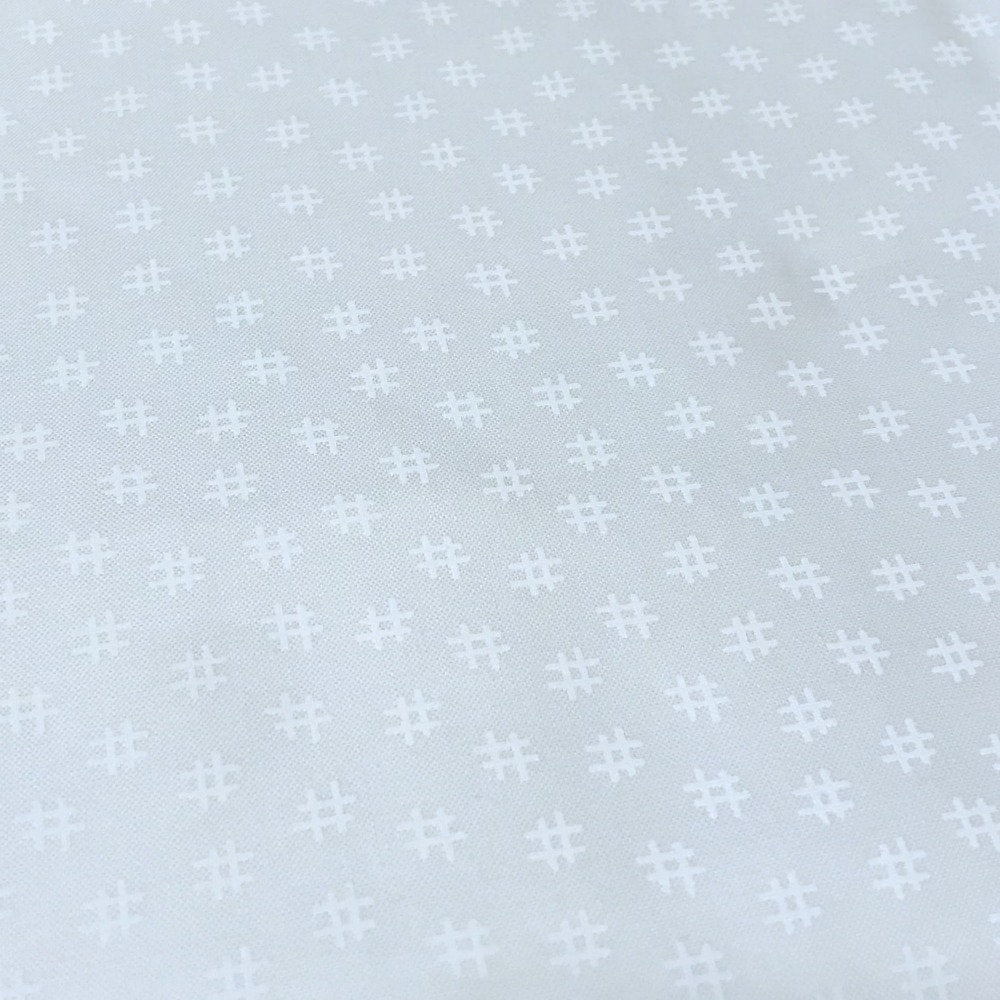 Moda Basic Hashtag White - Priced by the Half Yard - brewstitched.com