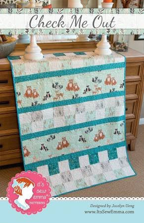 Check me Out Baby Quilt Paper Pattern from It's Sew Emma - brewstitched.com