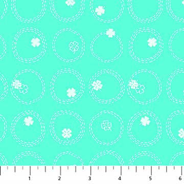 Figo Lucky Charms Four Leaf Clover in Mint - brewstitched.com