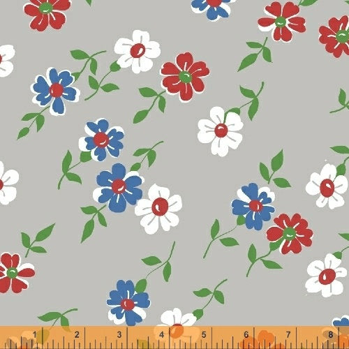 Bounce Grey Floral - Fabric by the Yard - CLEARANCE - brewstitched.com