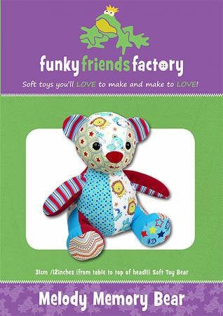 Melody Memory Bear Paper Pattern from Funky Friends Factory - brewstitched.com