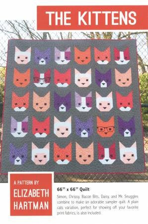 The Kittens Quilt Paper Pattern - brewstitched.com