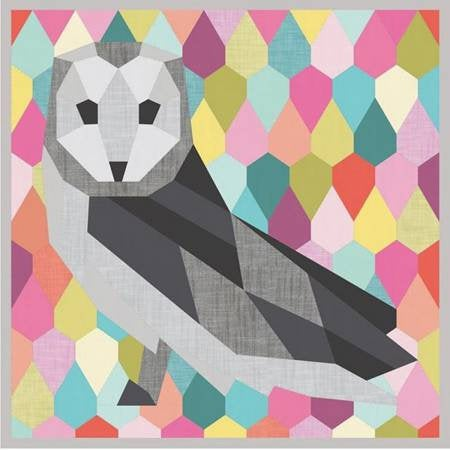 The Barn Owl EPP Paper Pattern from Violet Craft - brewstitched.com